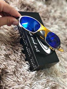 Óculos Oakley Juliet 24k Lente Azul Escura frete Grátis