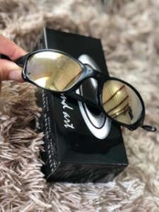 Óculos Oakley Doublex X LenteDourada Armação Preta Frete Grátis