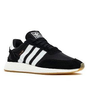 Tênis Adidas Iniiki Preto Com Branco Frete Grátis