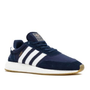 Tênis Adidas Iniiki Azul Marinho Com Branco Frete Grátis