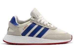 Tênis Adidas Iniiki Cinza Com Azul Frete Grátis