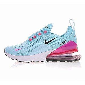 Tênis Nike Air Max 270 Azul Com Rosa Feminino Frete Grátis 75f1984e3f314