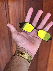 Óculos Oakley Personalizado 2 Mc Menor Mr Lente Dourada Frete Grátis