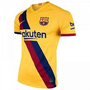 Camisa Barcelona Amarela 19/20 Nike - Masculina  (Frete Grátis)