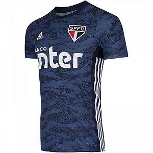 Camiseta Sao Paulo Azul Goleiro 19/20 - Masculina (Frete Grátis)