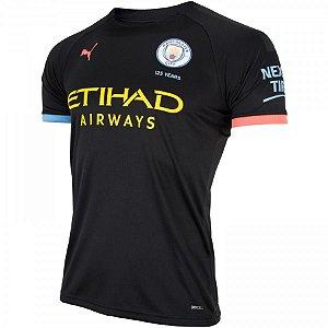 Camisa Manchester City Preta 19/20 - Masculina (Frete Grátis)