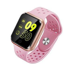 Relógio Smartwatch Esportivo Rosa Frete Gratis