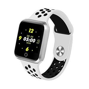 Relógio Smartwatch Esportivo Branco Com Preto Frete Gratis