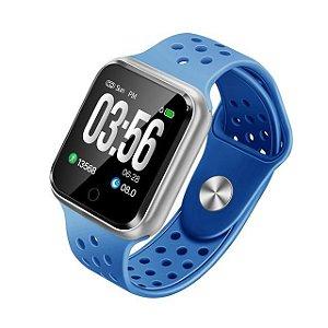 Relógio Smartwatch Esportivo Azul Frete Gratis