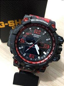 Relógio G-Shock Camuflado  Vermelho Frete Gratis