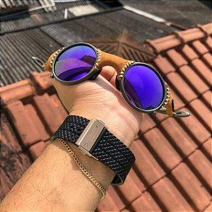 Óculos Oakley Mars Rocha Detalhes Em Couro Armação X-Metal Frete Grátis
