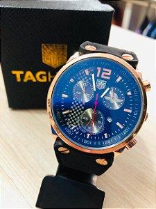 Relógio TAG Heuer Puleira De Couro Frete Gratis