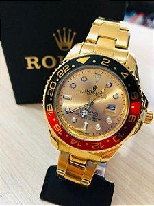 Relógio Rolex Dourado Fundo Dourado Frete Gratis
