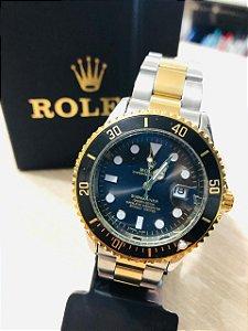 Relógio Rolex Prata Fundo Preto Frete Gratis