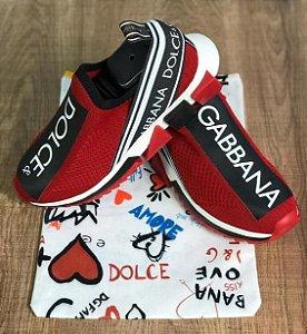 Tenis Dolce Gabbana Sorrento Vermelho Frete Grátis