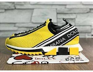 Tenis Dolce Gabbana Sorrento Amarelo Frete Grátis