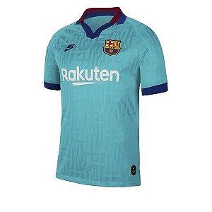 Camisa Barcelona Verde Agua 19/20 Nike - Masculina Frete Grátis