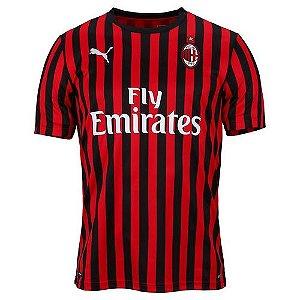 Camisa Milan Listrada 19/20 - Masculina Frete Grátis