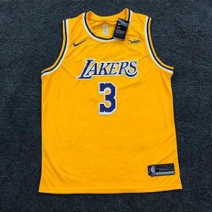 Camisata Lakers Amarela NBA 19/20 - Masculina Frete Grátis
