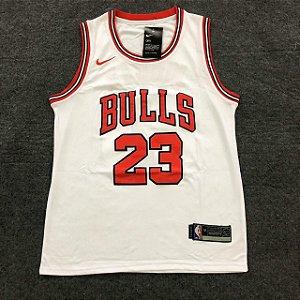 Camiseta Basquete Bulls Branca 23 19/20 - Masculina Frete Grátis