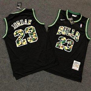 Camiseta Basqueta Bulls Preta 23 19/20 - Masculina Frete Grátis