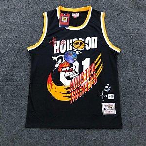 Camiseta Basquete Houston Preta 01 19/20 - Masculina Frete Grátis