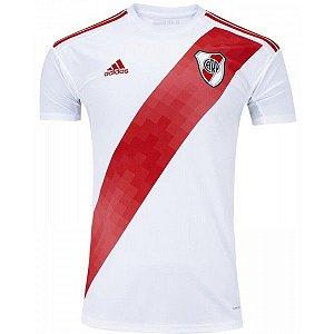 Camiseta River Plate Branca Faixa 19/20 adidas - Masculina Frete Grátis