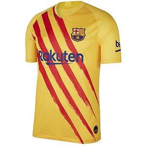 Camisa Barcelona Uniforme Amarelo 19/20 Nike - Masculina Frete Grátis