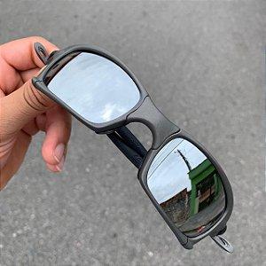 Óculos Oakley Squared Lente Prata Brilho Reto Armação X-Metal Frete Grátis