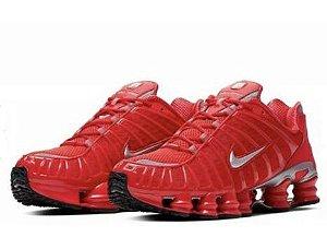Tênis Nike Shox 12 Molas Vermelho Frete Grátis