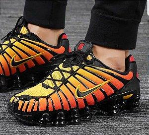 Tênis Nike Shox 12 Molas Preto Com Laranja Frete Grátis