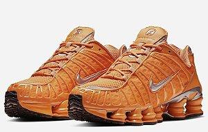 Tênis Nike Shox 12 Molas Laranja Frete Grátis