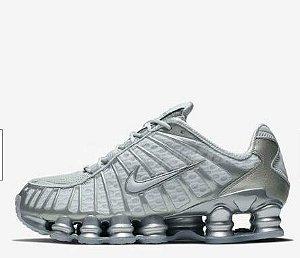 Tênis Nike Shox 12 Molas Cinza Com Prata Frete Grátis