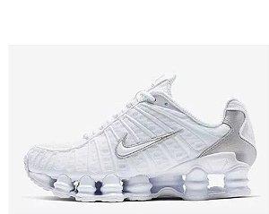 Tênis Nike Shox 12 Molas Branco Com Prata Frete Grátis