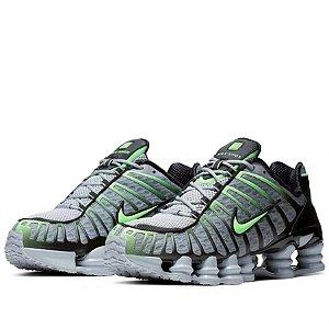 Tênis Nike Shox 12 Molas Cinza Com Verde Frete Grátis
