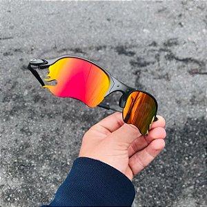 Óculos Oakley Romeo 2 Brilho Reto Lente Fire Frete Grátis