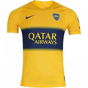 Camisa Boca Junior Amarela 19/20 Nike - Masculina Frete Grátis