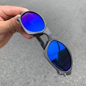 Óculos Oakley Penny Lente Azul Brilho Reto Armação X-metal Frete Grátis