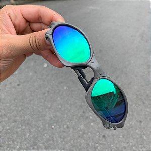 Óculos Oakley Penny Lente Verde Brilho Reto Armação X-metal Frete Grátis
