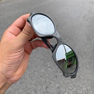 Óculos Oakley Penny Lente Prata Brilho Reto Armação X-metal Frete Grátis