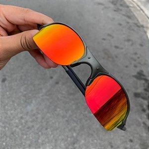 Óculos Oakley Romeo 2 Lente Vermelha Brilho Reto Armação X-Metal Frete Grátis