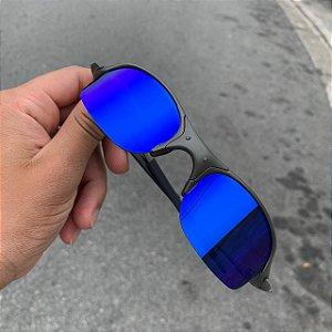 Óculos Oakley Romeo 2 Lente Azul Brilho Reto Armação X-metal Frete Grátis
