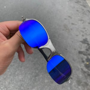 Óculos Oakley Romeo 2 Lente Azul Escuro Brilho Reto Armação Plasma Frete Grátis