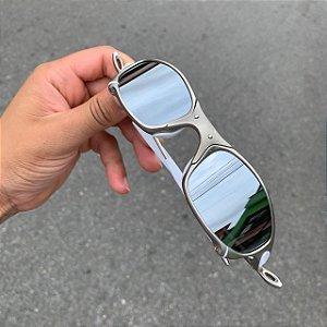Óculos Oakley Juliet Lente Prata Brilho Reto Armação Plasma Frete Grátis