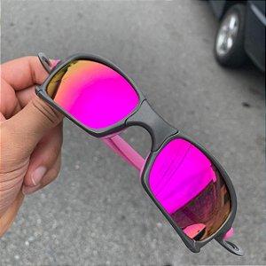 Óculos Oakley Squared Lente Rosa Brilho Reto Armação X-Metal Frete Grátis