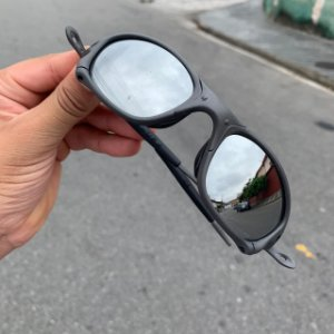 Óculos Oakley Double-X lente Prata Brilho Reto Armação X-Metal Frete Grátis