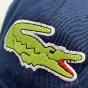 Big Croc Bone Lacoste Basico Azul Marinho Aba Curva Frete Grátis