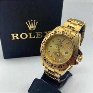 Relógio Rolex Explorer Dourado Com Fundo Dourado Frete Grátis