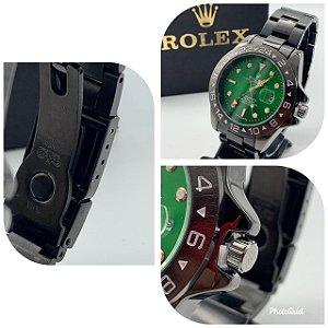 Relógio Rolex Explorer Preto Com Fundo Verde Frete Grátis