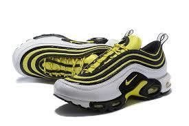 Tênis Nike Air Max 97 Plus Amarelo Com Branco Frete Grátis